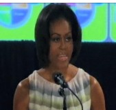 First lady Michelle Obama speaks about MyPlate