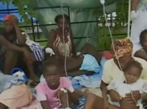 Cholera outbreak in Haiti continues - travel warning issued to avoid Haiti if at all possible, but to take supplies with you in case of infection.