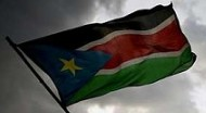 The flag of the newest country, South Sudan