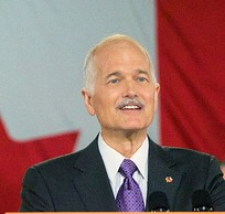 Canada's Opposition Leader Jack Layton dies at the age of 61 after losing a  battle with cancer. This image was taken in April 2011, before Mr Layton announced he had a second cancer.