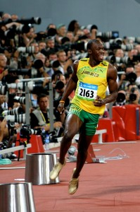 Usain Bolt was disqualified in the 100 Meters World Athletic Championship finals in Korea on Sunday.